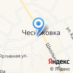 Чесноковский сельский совет на карте Чесноковки