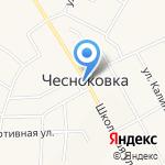 Киоск по продаже фруктов и овощей на карте Чесноковки