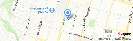 L`image на карте Уфы