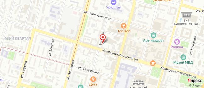 Карта расположения пункта доставки Уфа Гоголя в городе Уфа