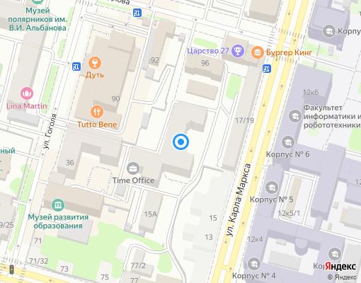 Товарищество собственников жилья «Маркса 15/2» на карте Уфы