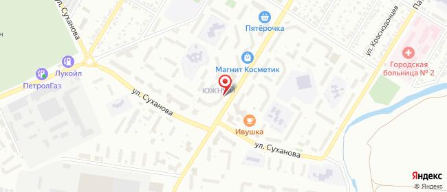 Карта расположения пункта доставки Билайн в городе Стерлитамак