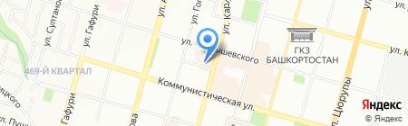 Ураллизинг на карте Уфы