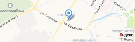 Магазин канцелярских товаров и игрушек на ул. Суханова на карте Стерлитамака