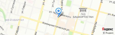 Тархан на карте Уфы