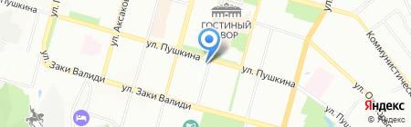 Лидо на Пушкина на карте Уфы