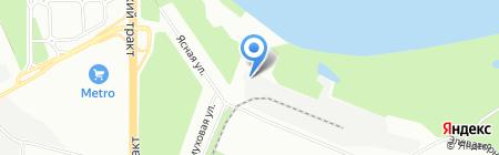 Уфимский комбинат хлебопродуктов на карте Уфы
