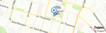 Баштрэвел на карте Уфы