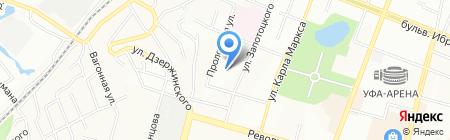 Средняя общеобразовательная школа №26 на карте Уфы
