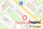 Схема проезда до компании Mari`N в Перми