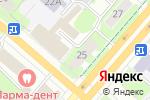 Схема проезда до компании Мега Люкс в Перми