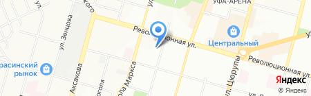 Средняя общеобразовательная школа №1 на карте Уфы