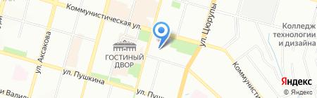 Эстера-тур на карте Уфы