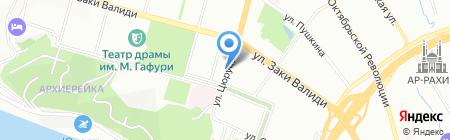 Малибу на карте Уфы