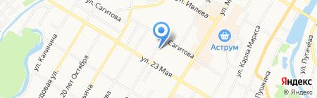 Фонд жилищного строительства Республики Башкортостан на карте Стерлитамака