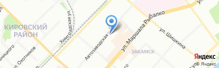 Магазин зоотоваров на Автозаводской на карте Перми