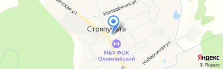 Северный на карте Стряпунят