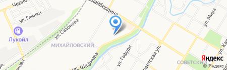 Мясная лавка на ул. Шафиева на карте Стерлитамака