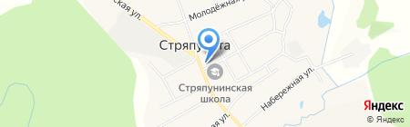 Совет депутатов Стряпунинского сельского поселения на карте Стряпунят