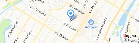 Урал-Мрамор на карте Стерлитамака