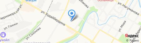 Рощинский на карте Стерлитамака