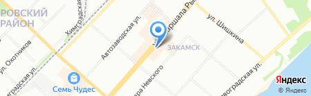 Стелла на карте Перми