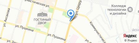 Аптечный дворъ на карте Уфы