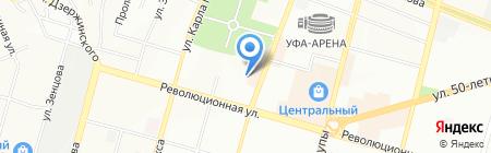 Уфимский авиационный техникум на карте Уфы