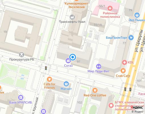 Товарищество собственников жилья «Центр» на карте Уфы