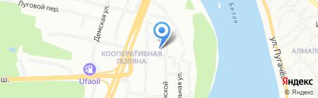 Средняя общеобразовательная школа №34 на карте Уфы
