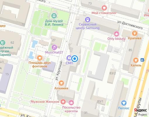 Товарищество собственников недвижимости «Литер-33» на карте Уфы