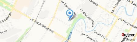 Мастерская по ремонту обуви на ул. Щербакова на карте Стерлитамака
