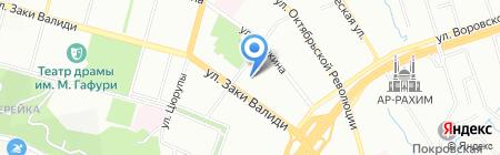 Каменный Двор на карте Уфы
