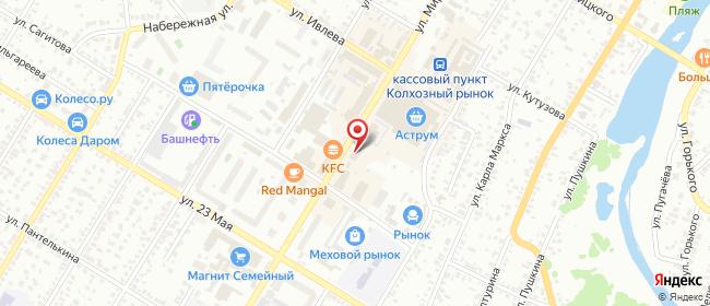 Карта расположения пункта доставки Стерлитамак Мира в городе Стерлитамак