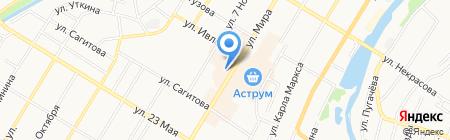 Магазин мясной продукции на карте Стерлитамака