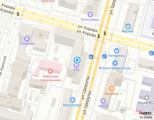 Товарищество собственников жилья «Цюрупы 79» на карте Уфы
