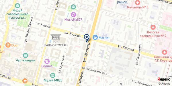 Клевер на карте Уфе