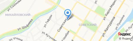БАНК УРАЛСИБ на карте Стерлитамака