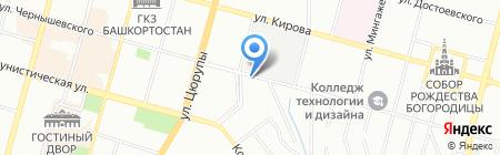 Парфэ на карте Уфы
