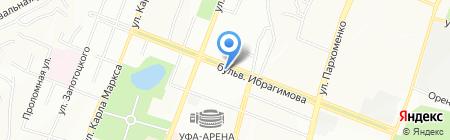 Ибрагимыч на карте Уфы