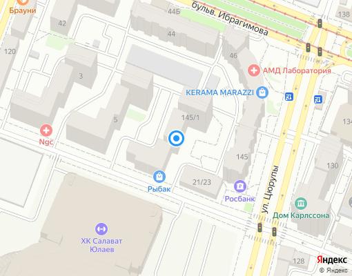 Управляющая компания «Теплосервис» на карте Уфы