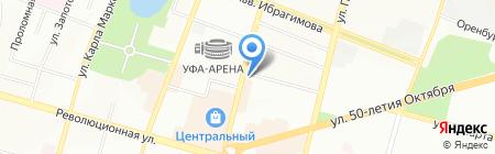 Рябина на карте Уфы