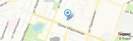 Башстройбумторг на карте Уфы