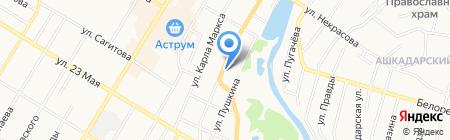 Шиномонтажная мастерская на ул. Халтурина на карте Стерлитамака