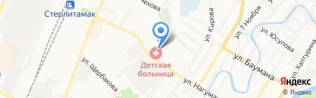 Детская городская больница на карте Стерлитамака