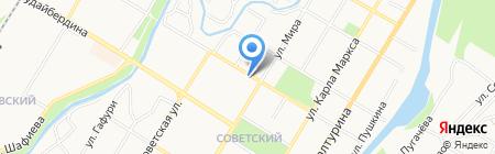 Центральная городская библиотека на карте Стерлитамака