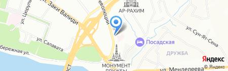 Горнас на карте Уфы
