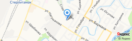 Узловая больница на ст. Стерлитамак на карте Стерлитамака