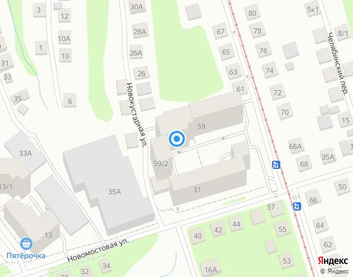Товарищество собственников жилья «Новомостовая» на карте Уфы