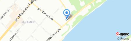 Уралтара на карте Перми